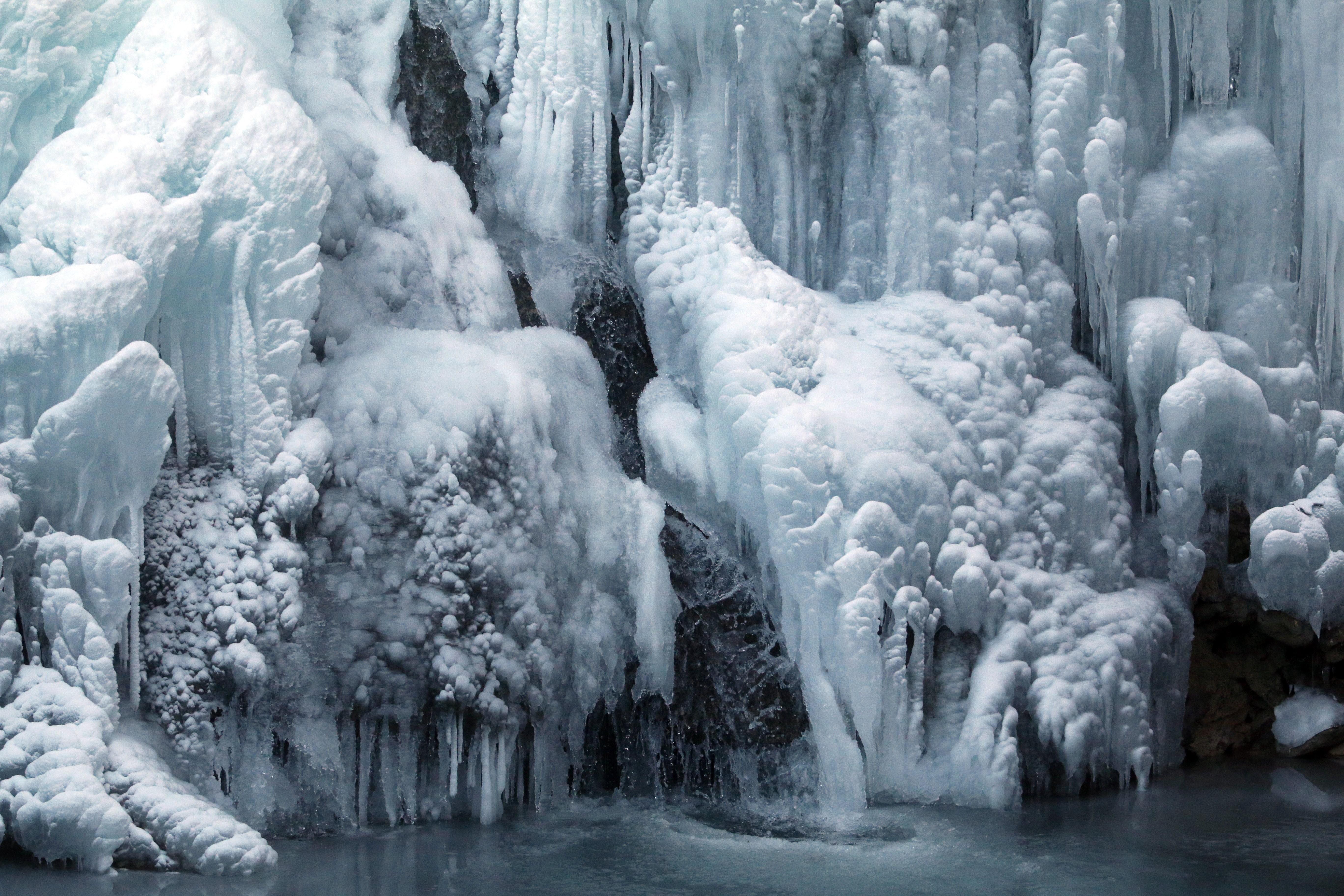 Megfagyott a lillafüredi vízesés (fotók)