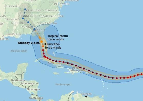 Tovább pusztít Floridában a hurrikán