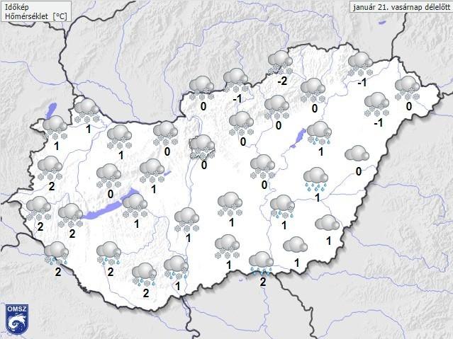 Kiadták a figyelmeztetést: Itt várható havazás vasárnap