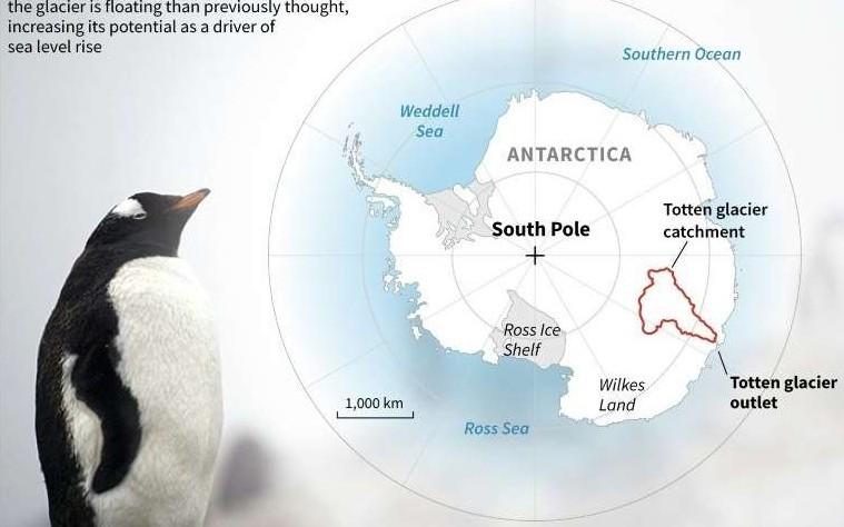 Az egyik hatalmas antarktiszi gleccser az eddig véltnél sokkal gyorsabban olvadhat