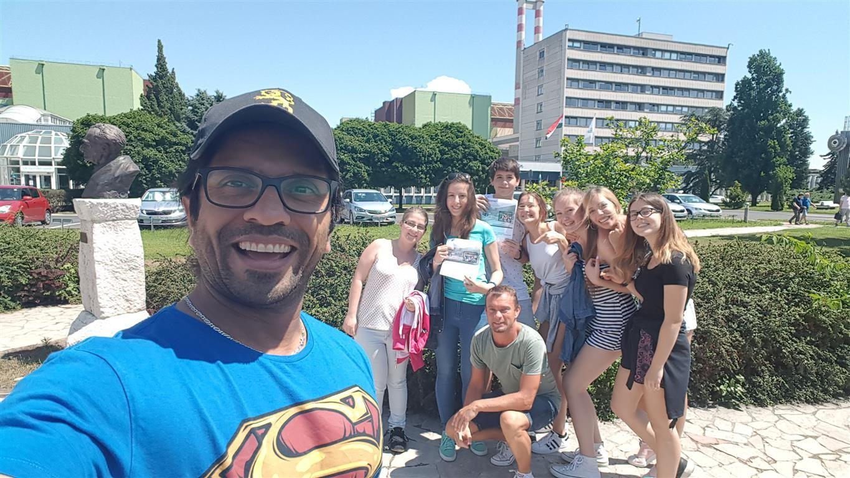 A szombathelyi Premontrei diákok látogatása Pakson