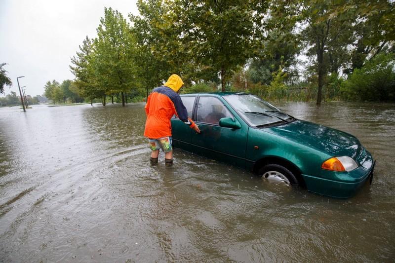 Esőzés - Hömpölygött a víz Keszthely utcáin