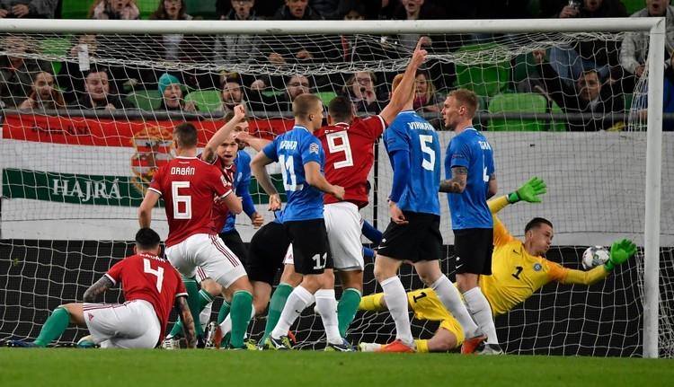 Magyar-észt mérkőzés - A magyar csapat versenyben maradt a második pozícióért