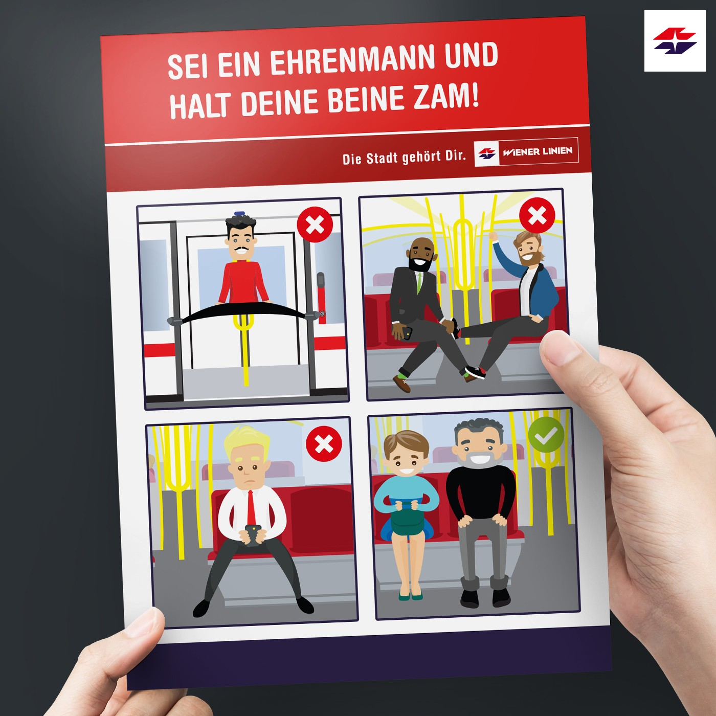 Legyél úriember, és ülj zárt lábakkal - Kampány indult a terpeszkedő utasok ellen Bécsben
