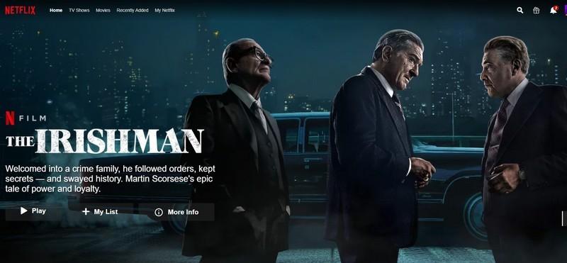 Martin Scorsese Az ír című filmje kapta a National Board of Review fődíját