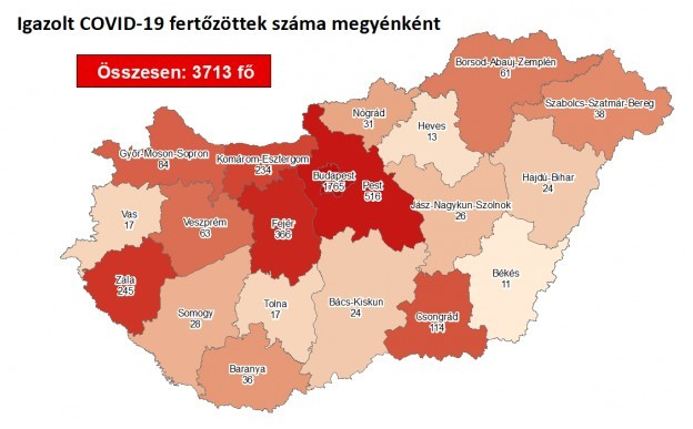 Koronavírus - Már 1600 alatt az aktív fertőzöttek száma