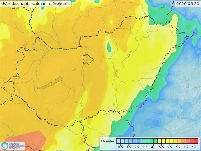 Extrém UV-sugárzás várható kedden