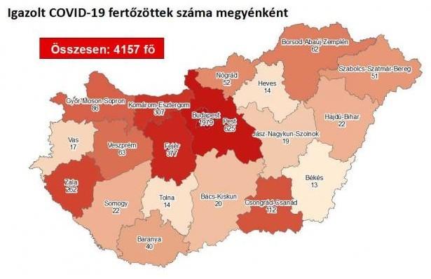 Koronavírus - 2 fővel emelkedett a beazonosított fertőzöttek száma