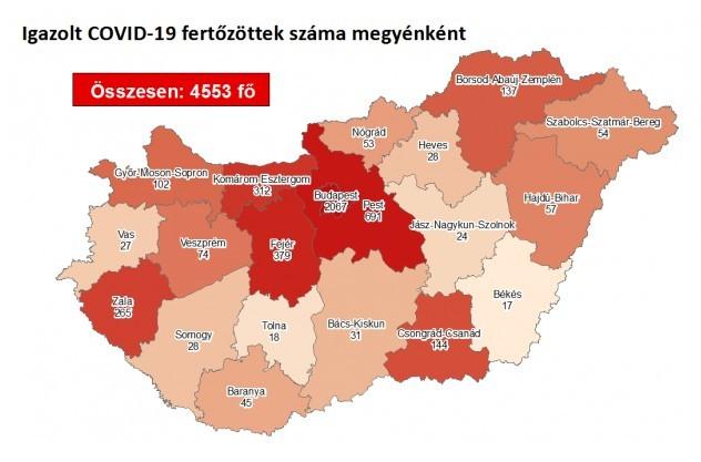 Meghalt egy idős beteg, kilenccel nőtt a fertőzöttek száma Magyarországon