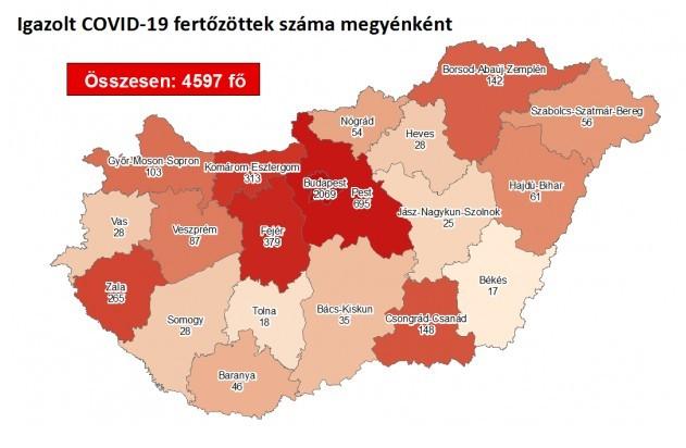 33 fővel emelkedett a beazonosított fertőzöttek száma