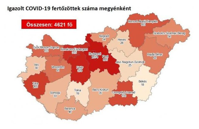 24 fővel emelkedett a beazonosított fertőzöttek száma