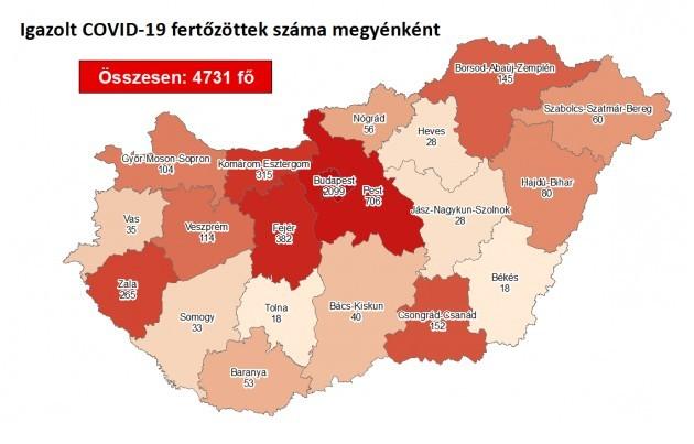 Harmincöttel nőtt a fertőzöttek száma Magyarországon