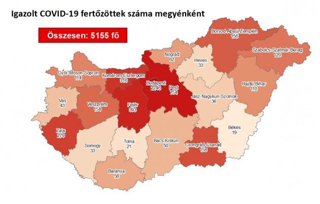 Meghalt két beteg és huszonkettővel nőtt a fertőzöttek száma Magyarországon