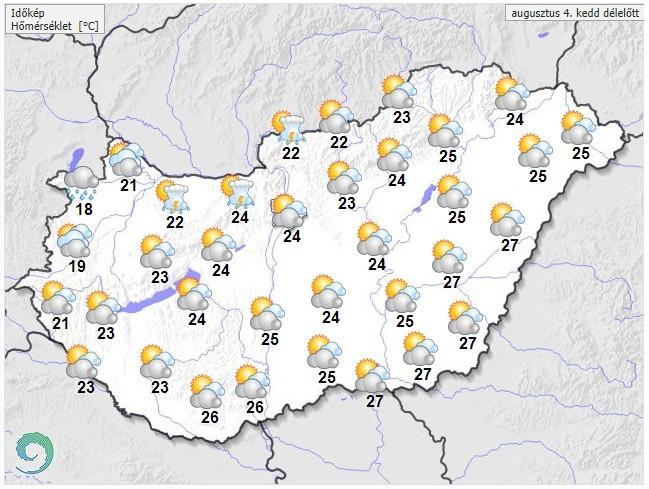 Időjárás-előrejelzés délelőttre