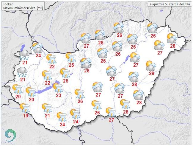 Időjárás-előrejelzés délutánra