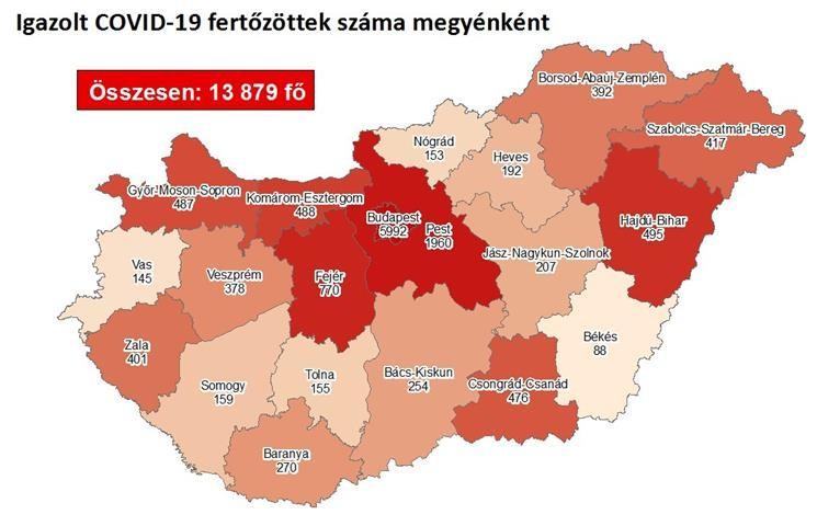 Itt a keddi friss megyei lista - Magyar adatok a járványról