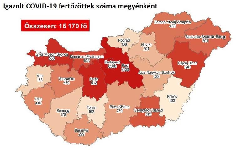 Koronavírus - Itt a friss csütörtöki megyei lista és az adatok