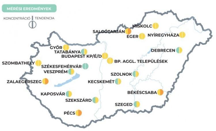 Koronavírus - Négy vidéki városban emelkedik a koronavírus szennyvízben mért koncentrációja