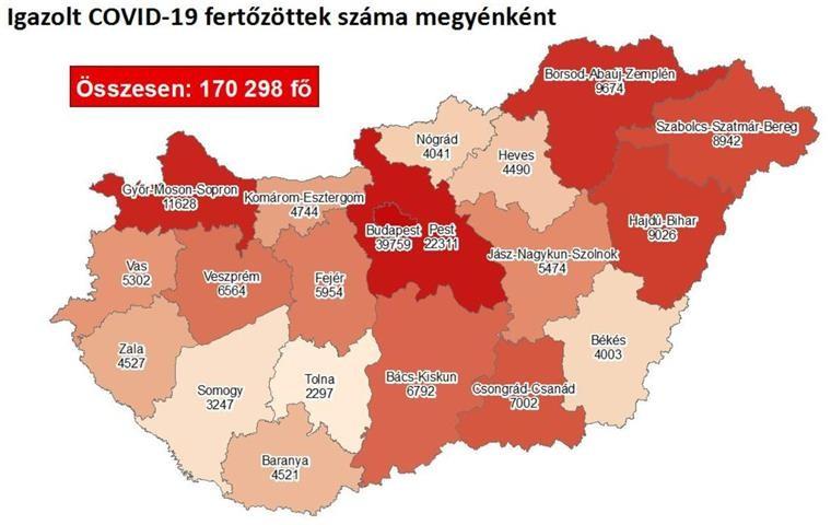 121 beteg hunyt el szombatra - Friss koronavírus adatok