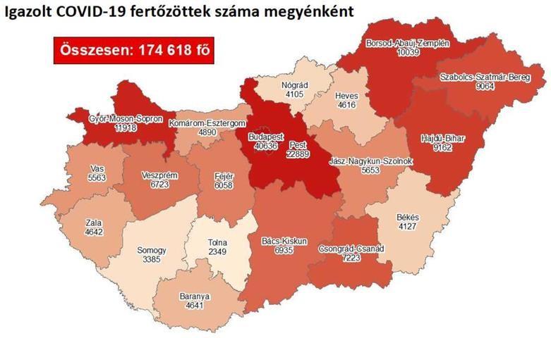 Vasárnap - 4320 fővel emelkedett a beazonosított fertőzöttek száma