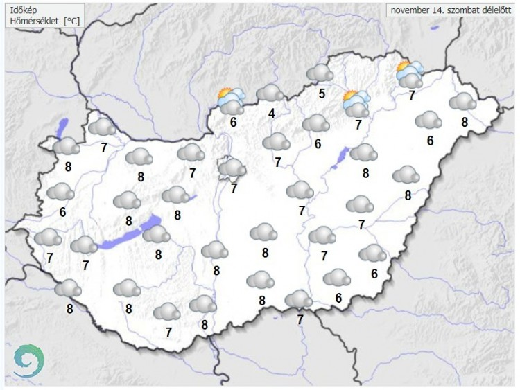 Hamarosan itt egy markáns front - Időjárás-előrejelzés a ...