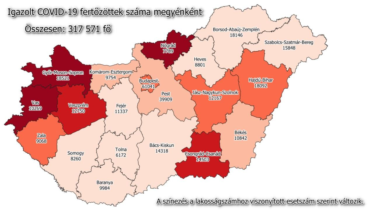 Koronavírus - A keddi magyar adatok