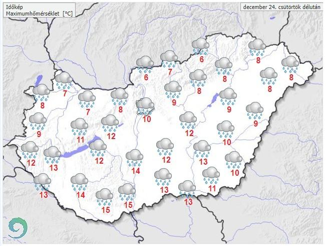 Időjárás-előrejelzés december 24-re