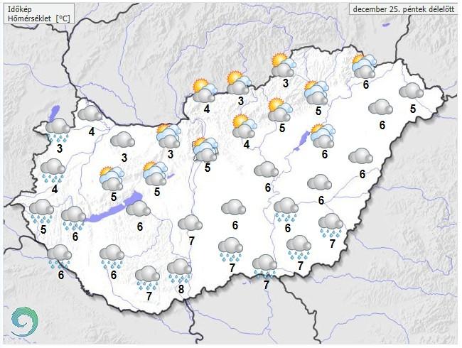 Időjárás-előrejelzés péntek délelőttr