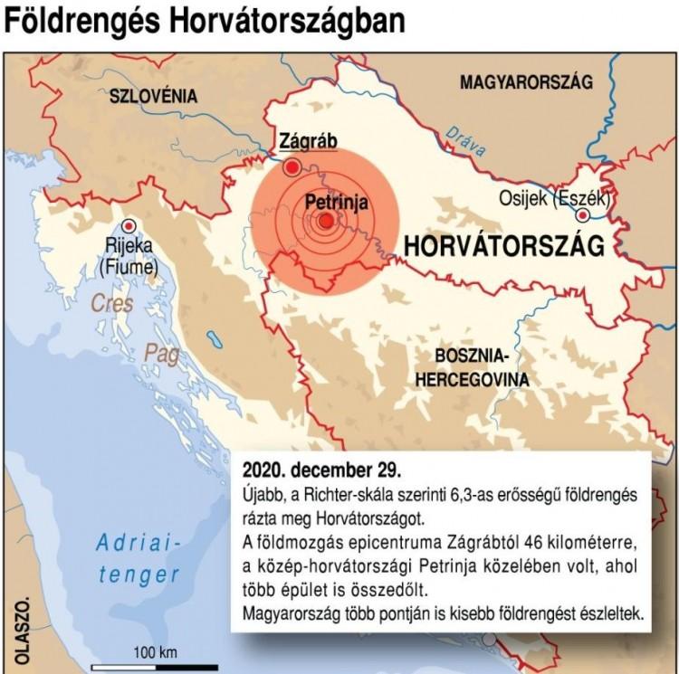 Horvátországi földrengés - Ismét volt egy Magyarországon is érezhető utórengés