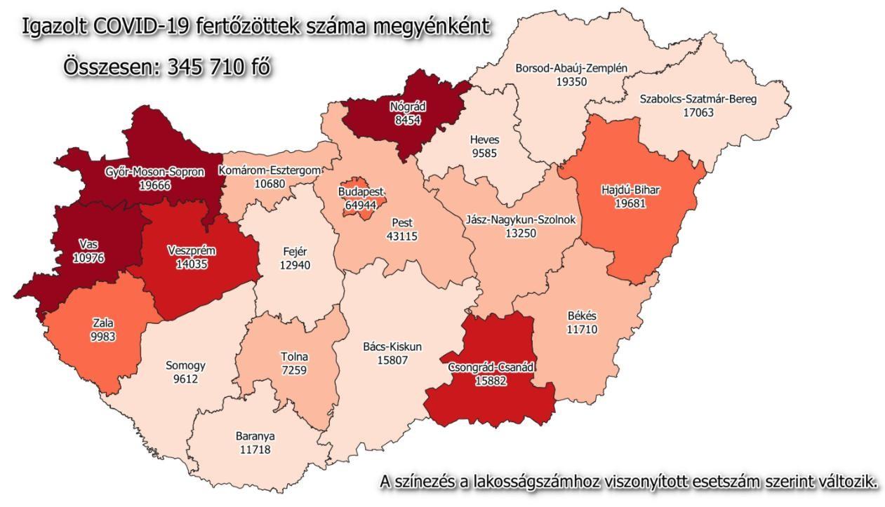 Koronavírus - Hazai adatok és a megyei lista január 13-án