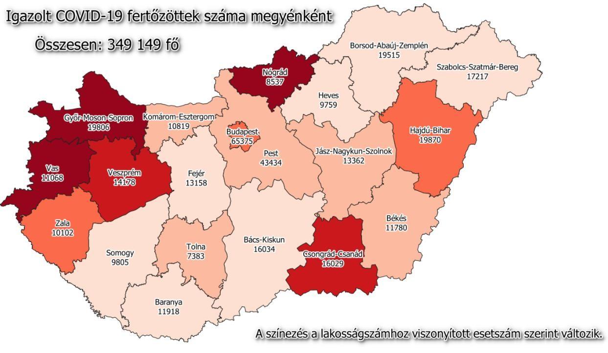 Koronavírus - Friss hazai adatok jöttek és a megyei listát is közöljük