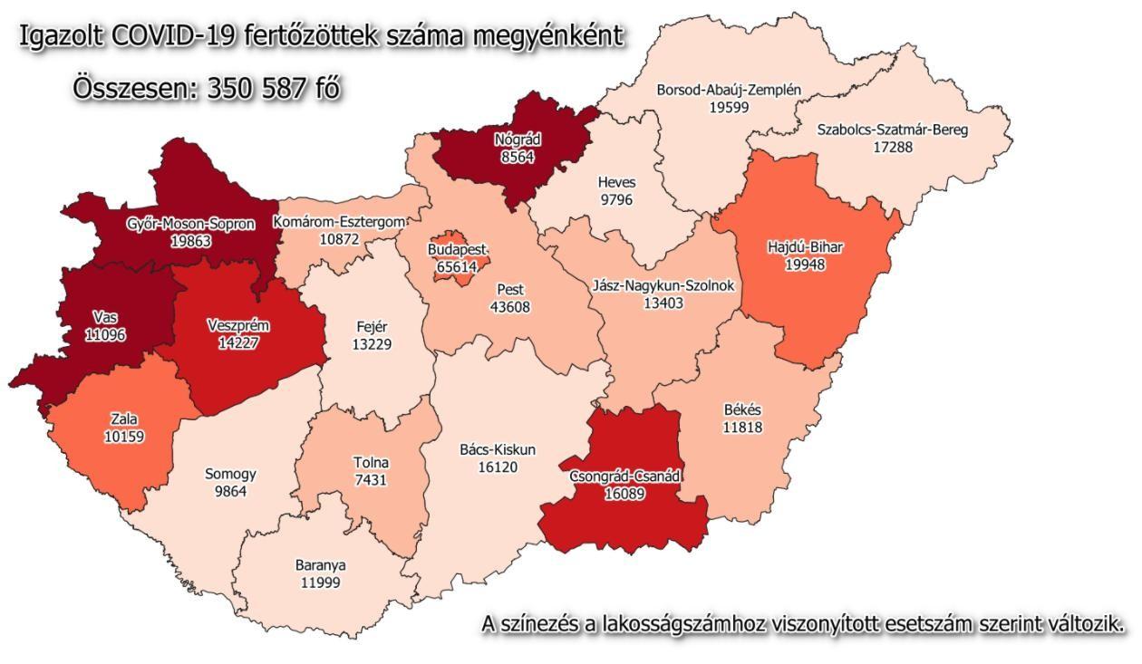 Koronavírus - Kijöttek a szombati adatok és a megyei lista