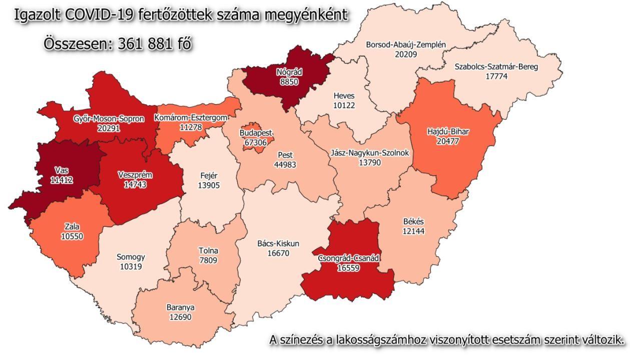 Koronavírus - Szerdán ismét ezer fölött a megbetegedések száma