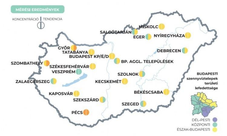 Ezekben a városokban emelkedik a koronavírus szennyvízben mért koncentrációja