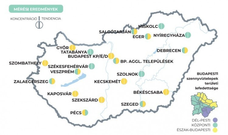 Koronavírus-örökítőanyag mennyisége a szennyvízben - A 3. heti eredmények