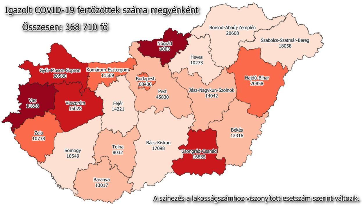 Koronavírus - Az aktuális megyei lista és az országos adatok
