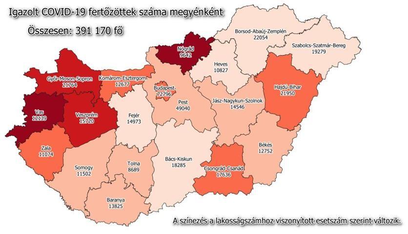Hazai adatok, szerda - 1548 fővel emelkedett a beazonosított fertőzöttek száma és elhunyt 94 beteg