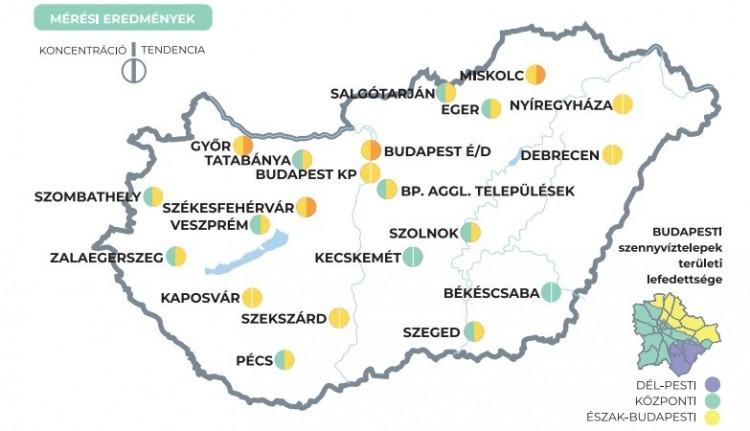 Négy városban emelkedik a szennyvízmintákban az új koronavírus örökítőanyagának koncentrációja - 5. hét