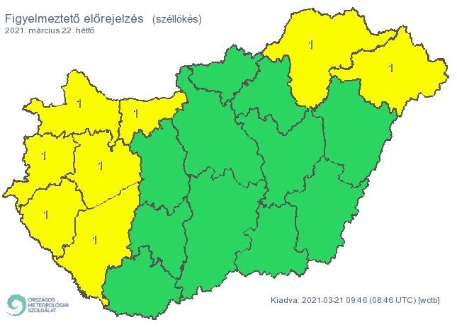 Figyelmeztető időjárás-előrejelzés hétfőre - Viharos szél